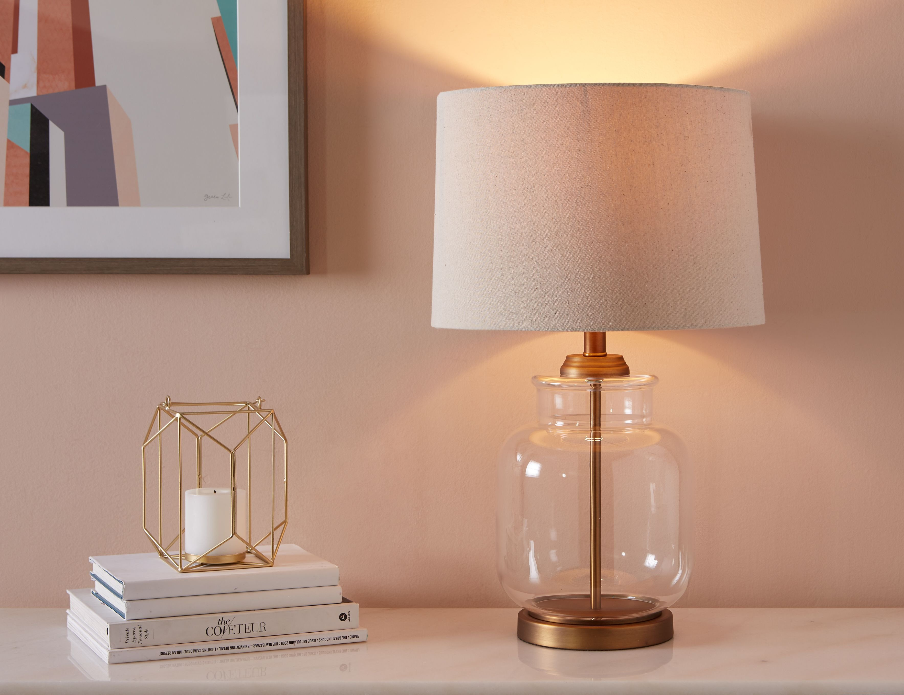 """Modern Table Lamp for Bedroom Awesome Bastille Transparent Table Lamp 62cm Height 25"""""""