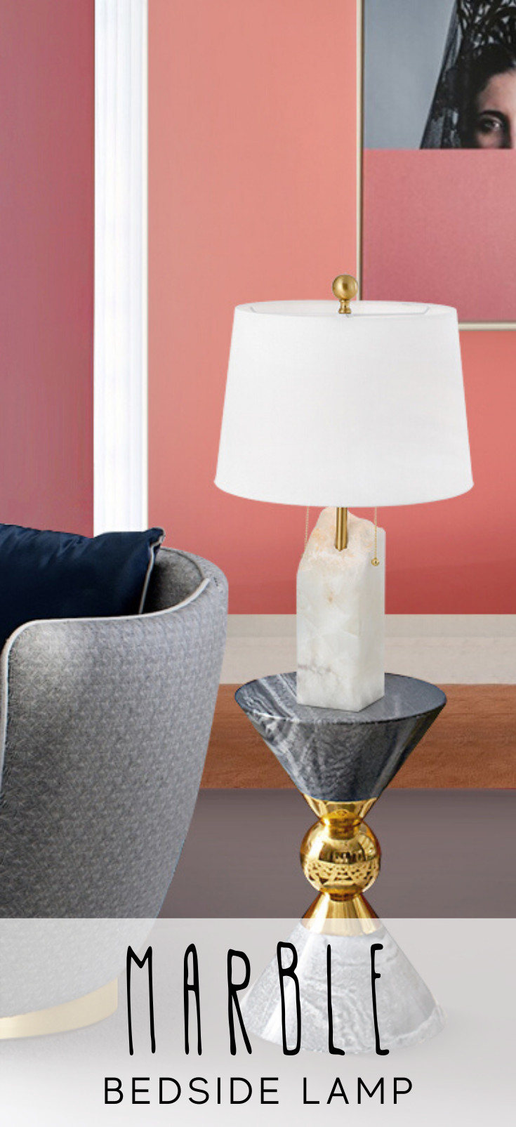Modern Table Lamp for Bedroom Best Of Tris Marble Table Lamp In 2020