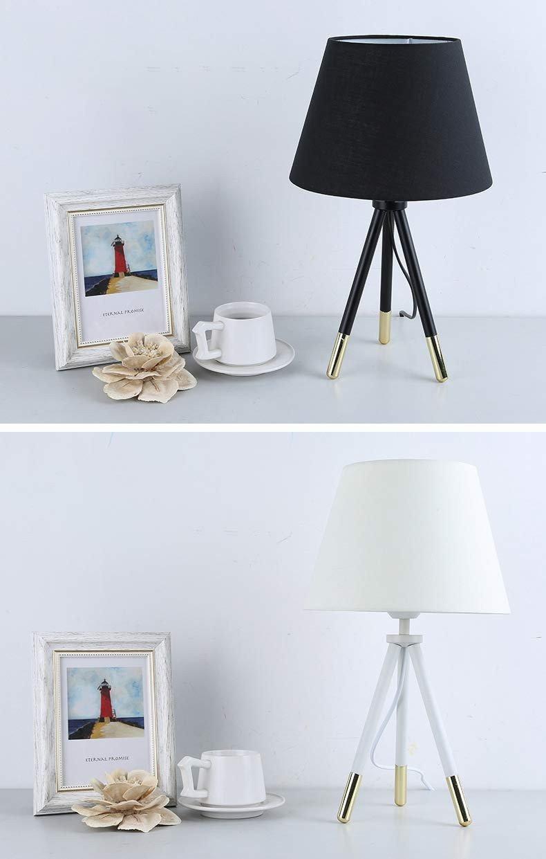 Modern Table Lamp for Bedroom New Modern Black White Cloth Art Desk Led Table Lamp Bedroom