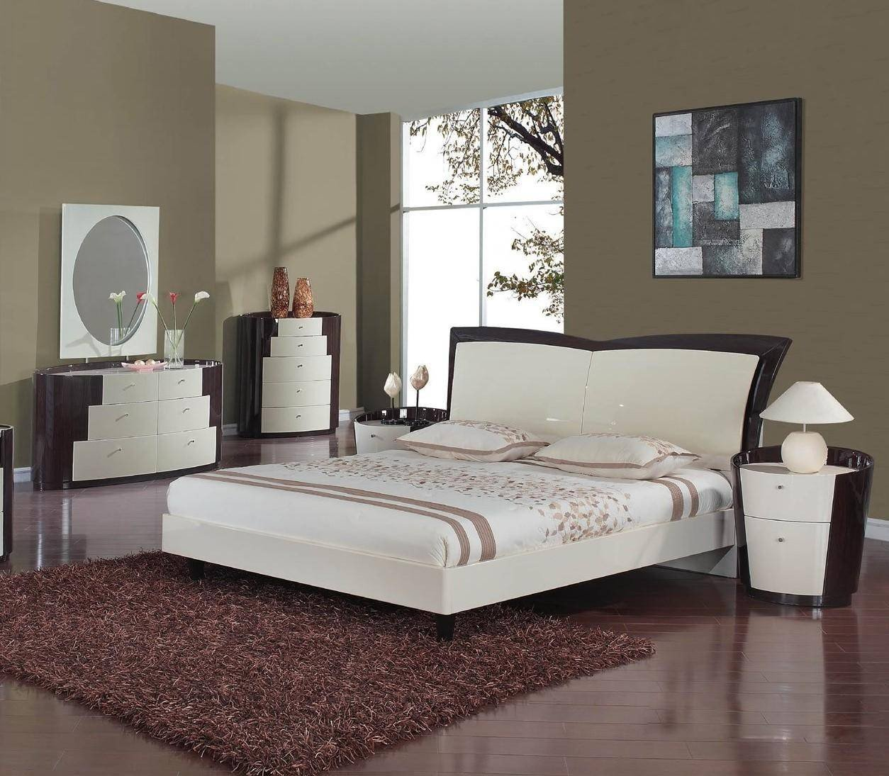 Monte Carlo Bedroom Set Unique Modern Beige Wenge Platform King Bedroom Set 5pcs New York