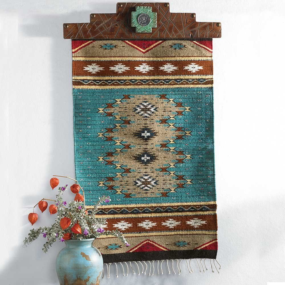 Native American Bedroom Decor Luxury Zapotec Turquoise Wall Runner From King Ranch Saddle Shop