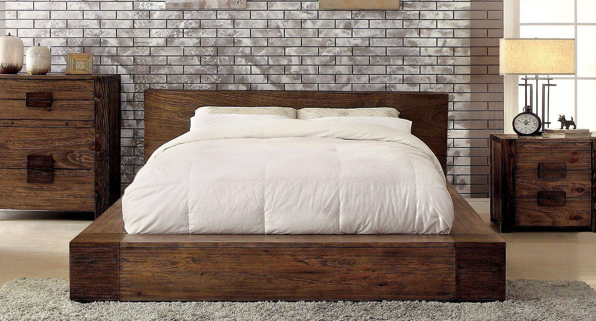 Natural Wood Bedroom Set Unique Rustic Natural Finish Queen Bedroom Set 4 Pcs Janeiro