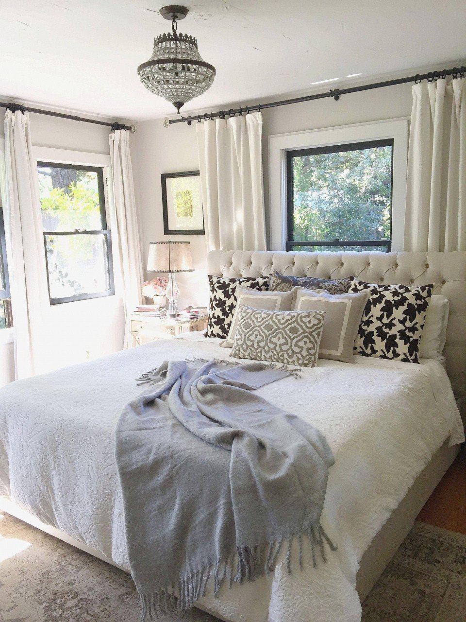 Navy and White Bedroom Luxury Light Blue Bedroom — Procura Home Blog