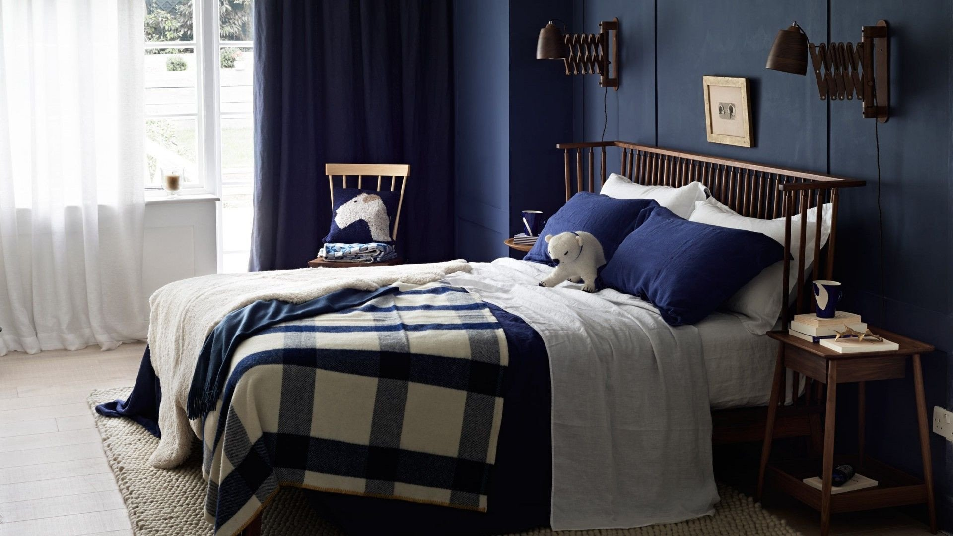 Navy Blue and Yellow Bedroom Luxury Country Bedroom with Navy Blue Walls the Room Edit