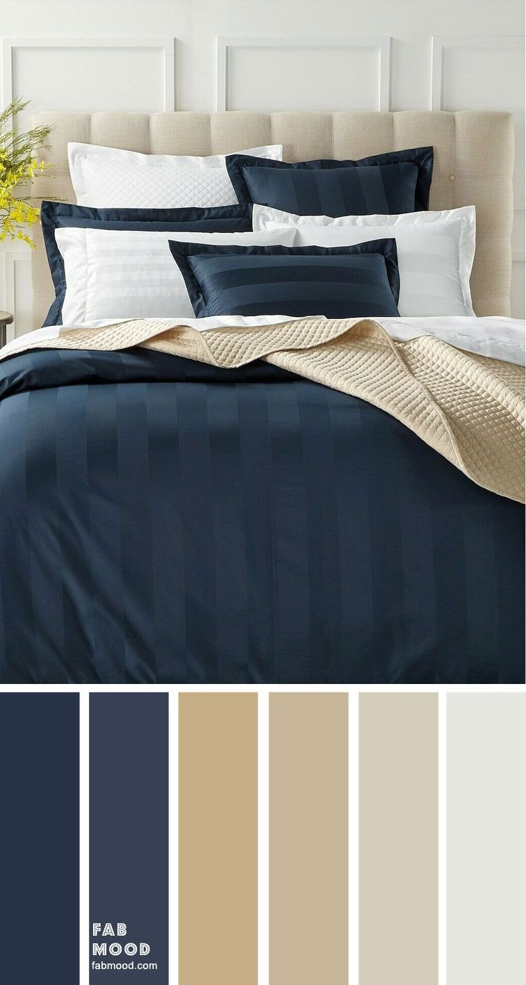 Navy Blue Bedroom Ideas New Beige Dark Blue and Grey Color Scheme for Bedroom