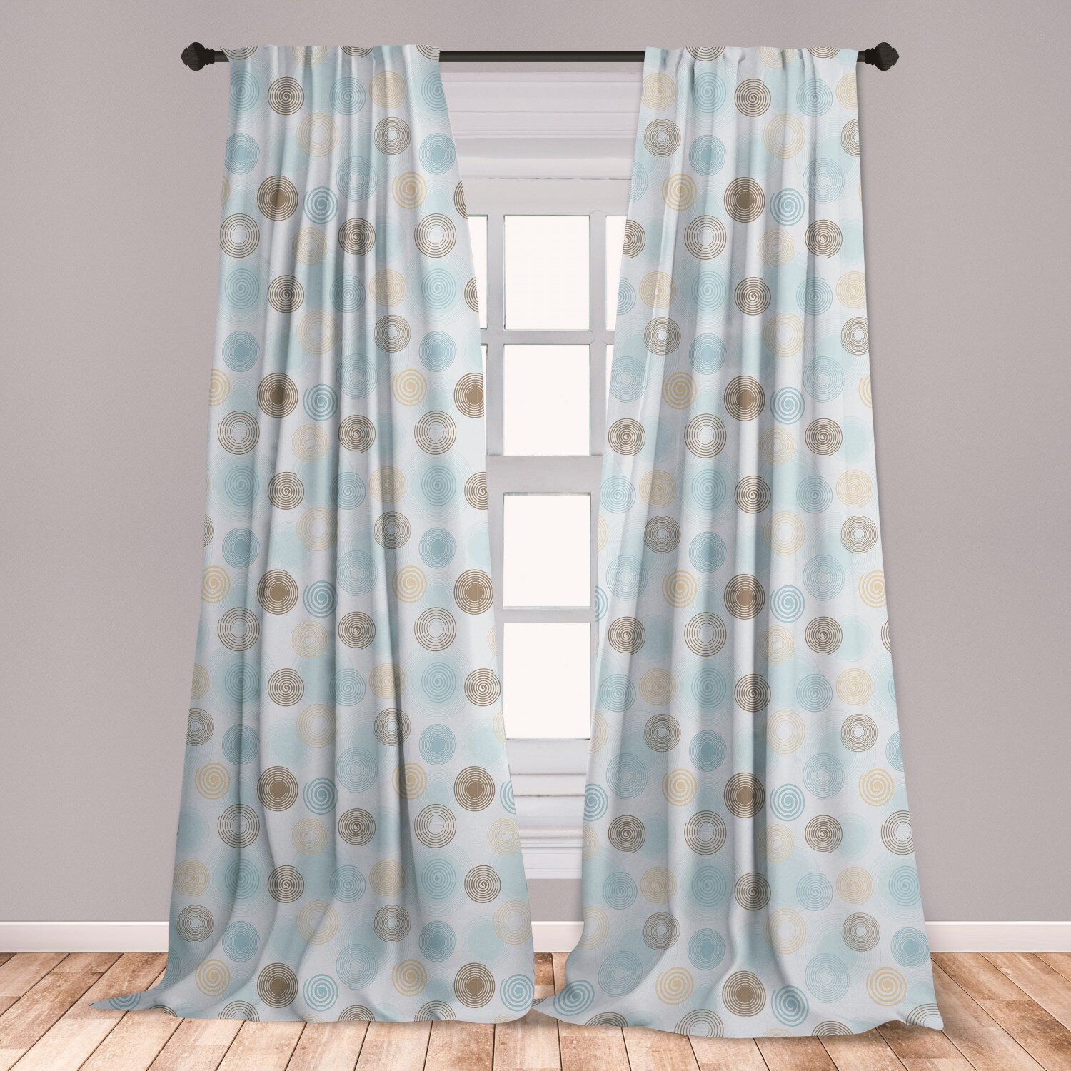 Navy Blue Curtains for Bedroom Awesome Ambesonne Brown and Blue Curtains Twirls Vortex Design Geometric Curved Lines Hypnotic Elements Window Treatments 2 Panel Set for Living Room