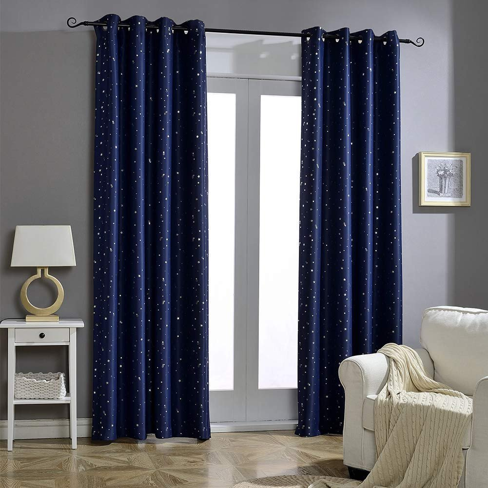 Navy Blue Curtains for Bedroom Best Of Jaoul Night Sky Twinkle Constellation Kids Blackout Curtains for Bedroom Space Inspired Window Grommet Nursery Drape 1 Panel 52 X 63 Inch Navy