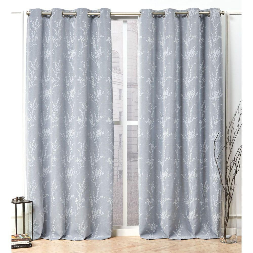 Navy Blue Curtains for Bedroom Best Of Nicole Miller Turion Chambray Blue Blackout Grommet top Curtain Panel 52 In W X 84 In L 2 Panel