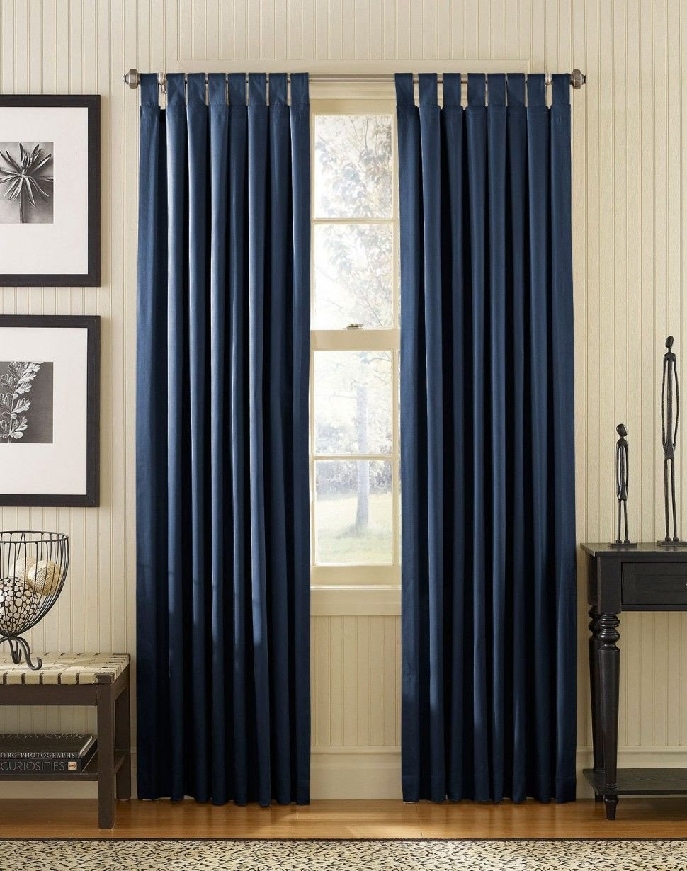 Navy Blue Curtains for Bedroom Elegant Apartment Interior Adding Curtain Ideas to Enhance the