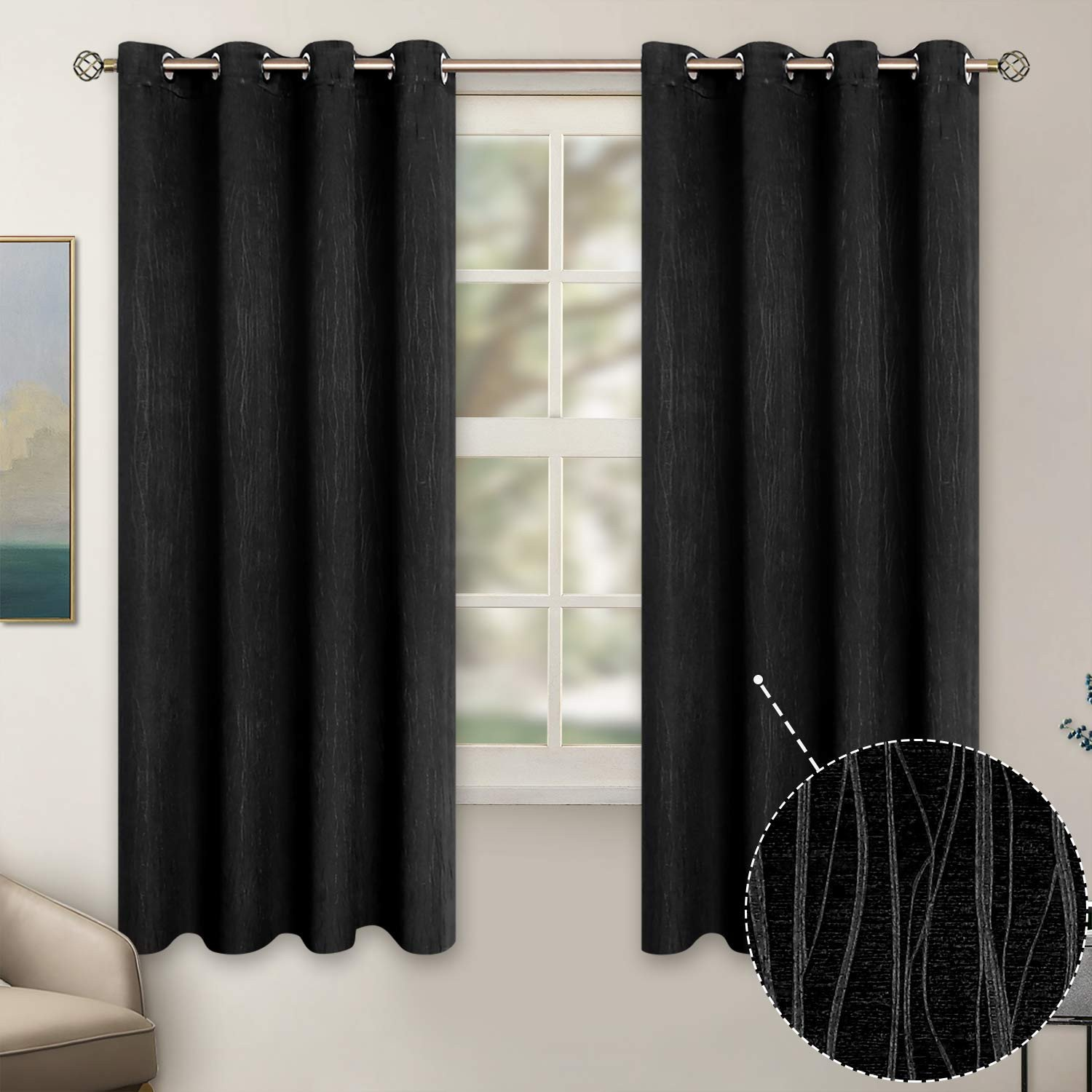 Navy Blue Curtains for Bedroom Fresh Bgment Embossed Blackout Curtains for Bedroom Grommet thermal Insulated Room Darkening Curtains for Living Room 52 X 63 Inch Set Of 2 Panels