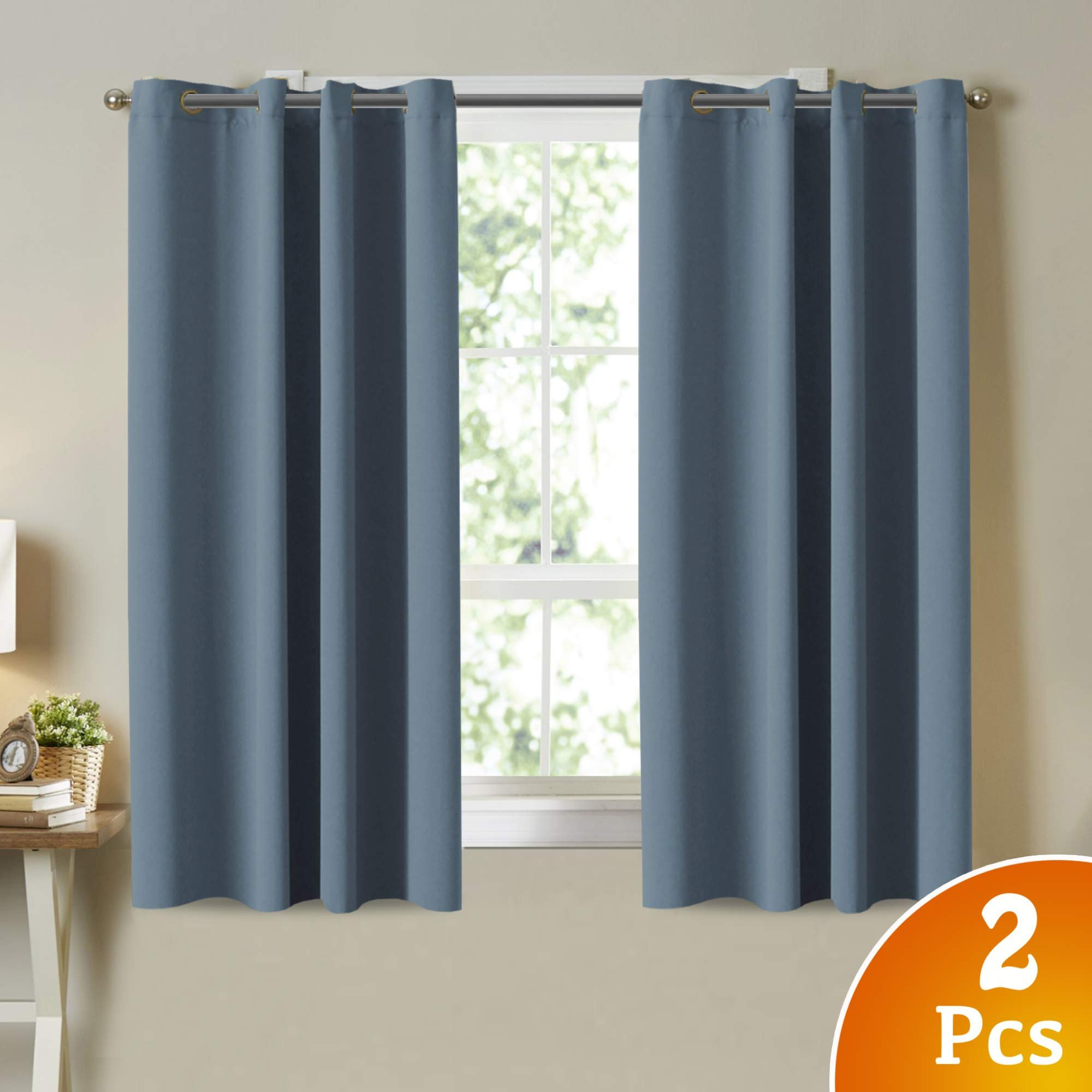 Navy Blue Curtains for Bedroom Inspirational Details About Blackout Room Darkening Grommet Curtains Citadel Blue Grey 52 X 63 Curtain 2pcs