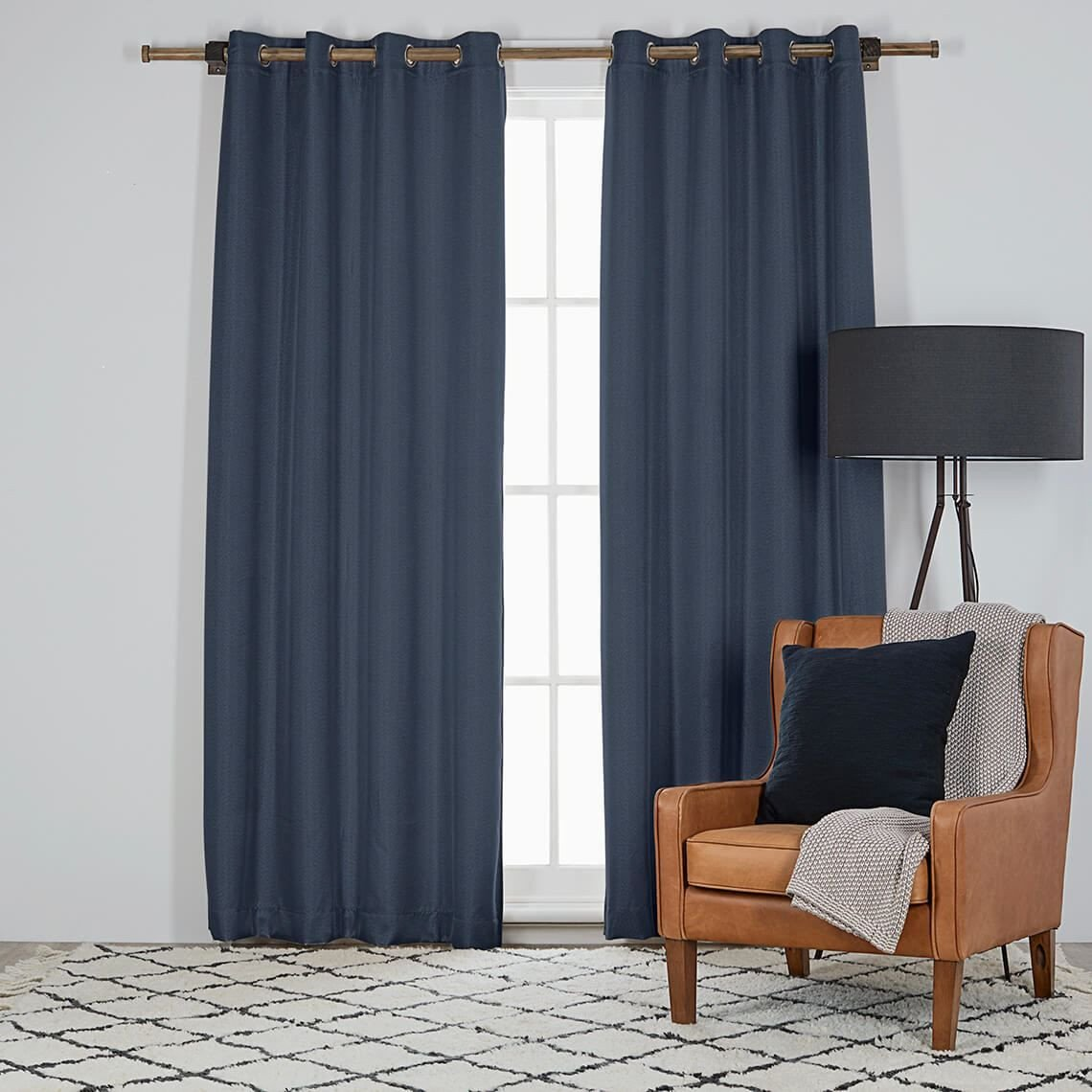 Navy Blue Curtains for Bedroom Lovely Harrison 135x230cm Room Darkening Eyelet Curtain Indigo