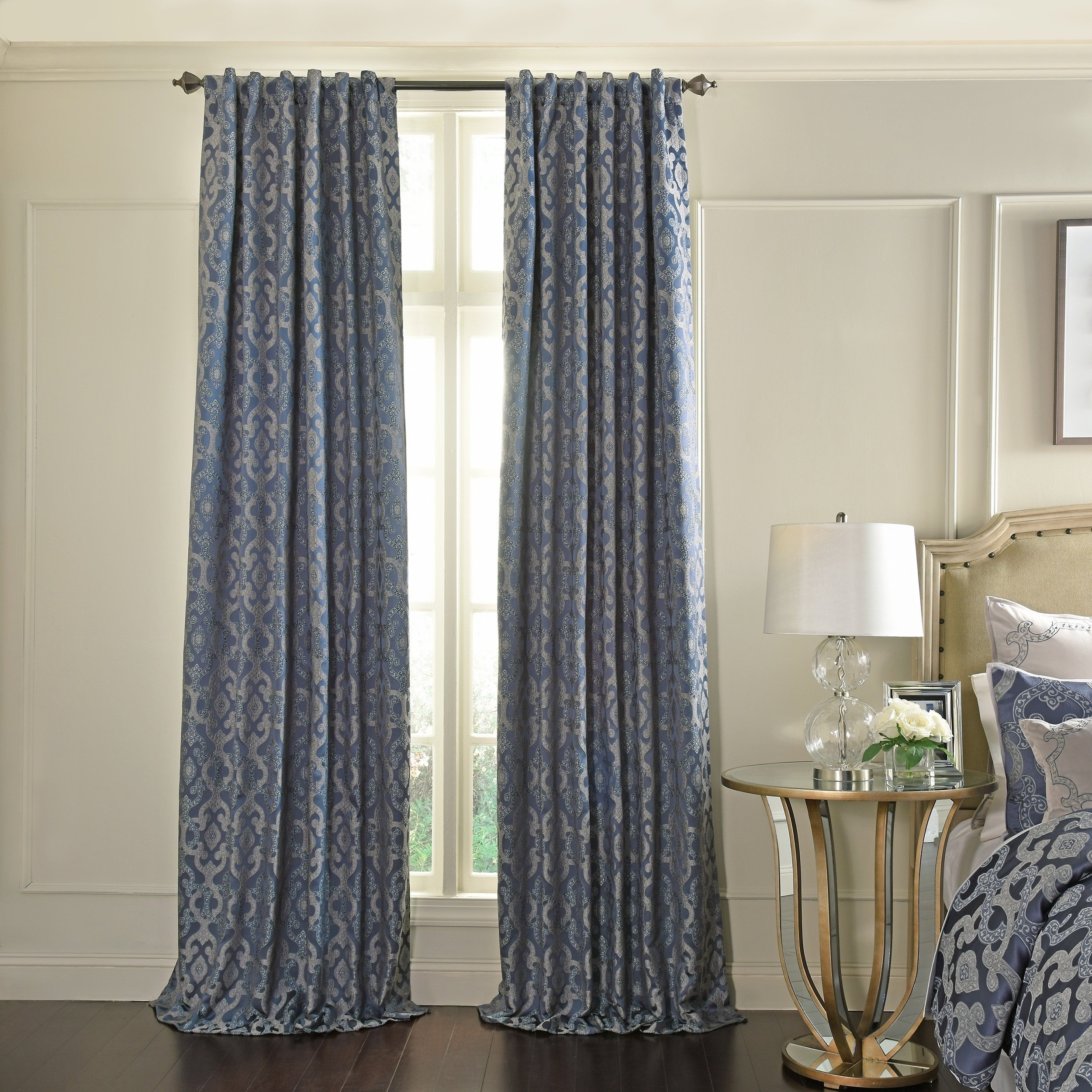 Navy Blue Curtains for Bedroom Luxury Beautyrest normandy Blackout Window Curtain