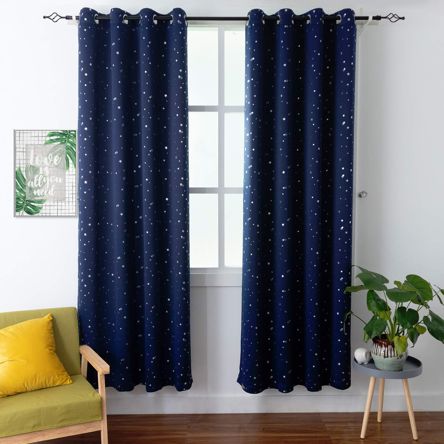 Navy Blue Curtains for Bedroom New Bgment Kids Blackout Curtains for Bedroom Grommet thermal