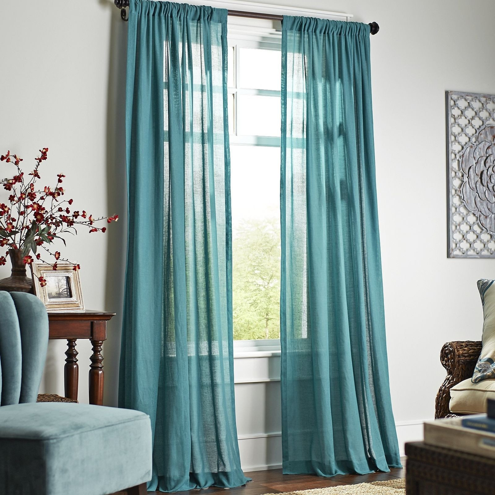 Navy Blue Curtains for Bedroom Unique Quinn Sheer Curtain Teal Pier 1 Imports
