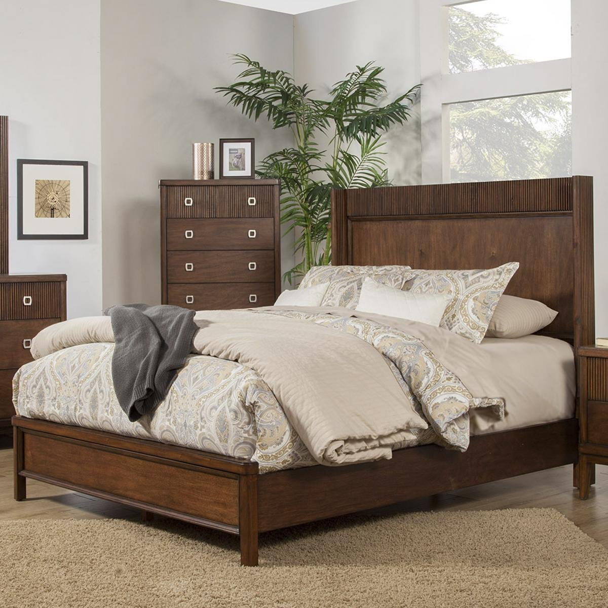 Nebraska Furniture Bedroom Set New Alpine Furniture Rex Queen Bed In Burgundy