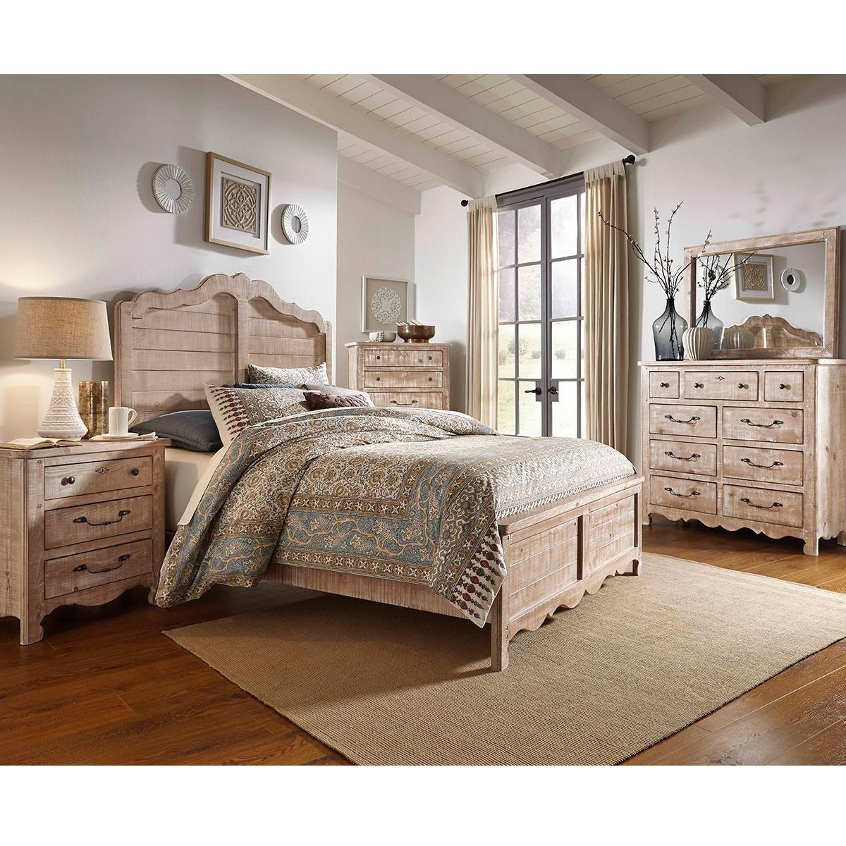 Nebraska Furniture Mart Bedroom Set Inspirational Tiddal Home Chatsworth King Panel Bed In Chalk Distressed