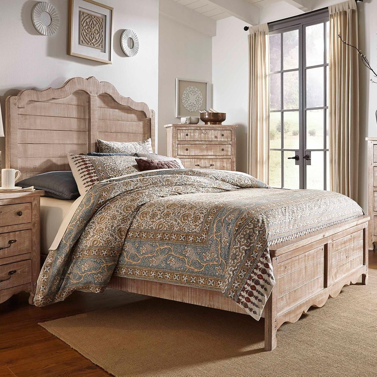 Nebraska Furniture Mart Bedroom Set Unique Tiddal Home Chatsworth King Panel Bed In Chalk Distressed