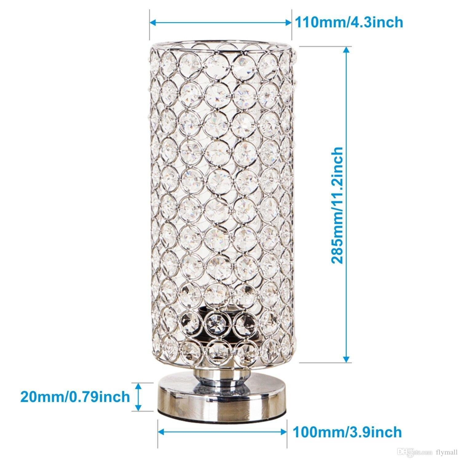 Night Lamp for Bedroom Elegant 2019 Crystal Table Lamp Nightstand Decorative Room Desk Lamp Night Light Lamp Table Lamps for Bedroom Living Room Kitchen Dining Room From Flymall