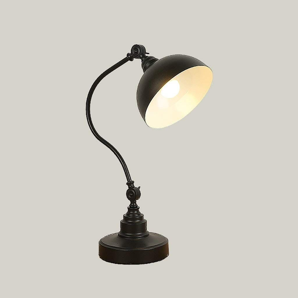 Night Lamp for Bedroom Elegant Desk Lamp Creative Table Lamp Black Desk Light Restaurant