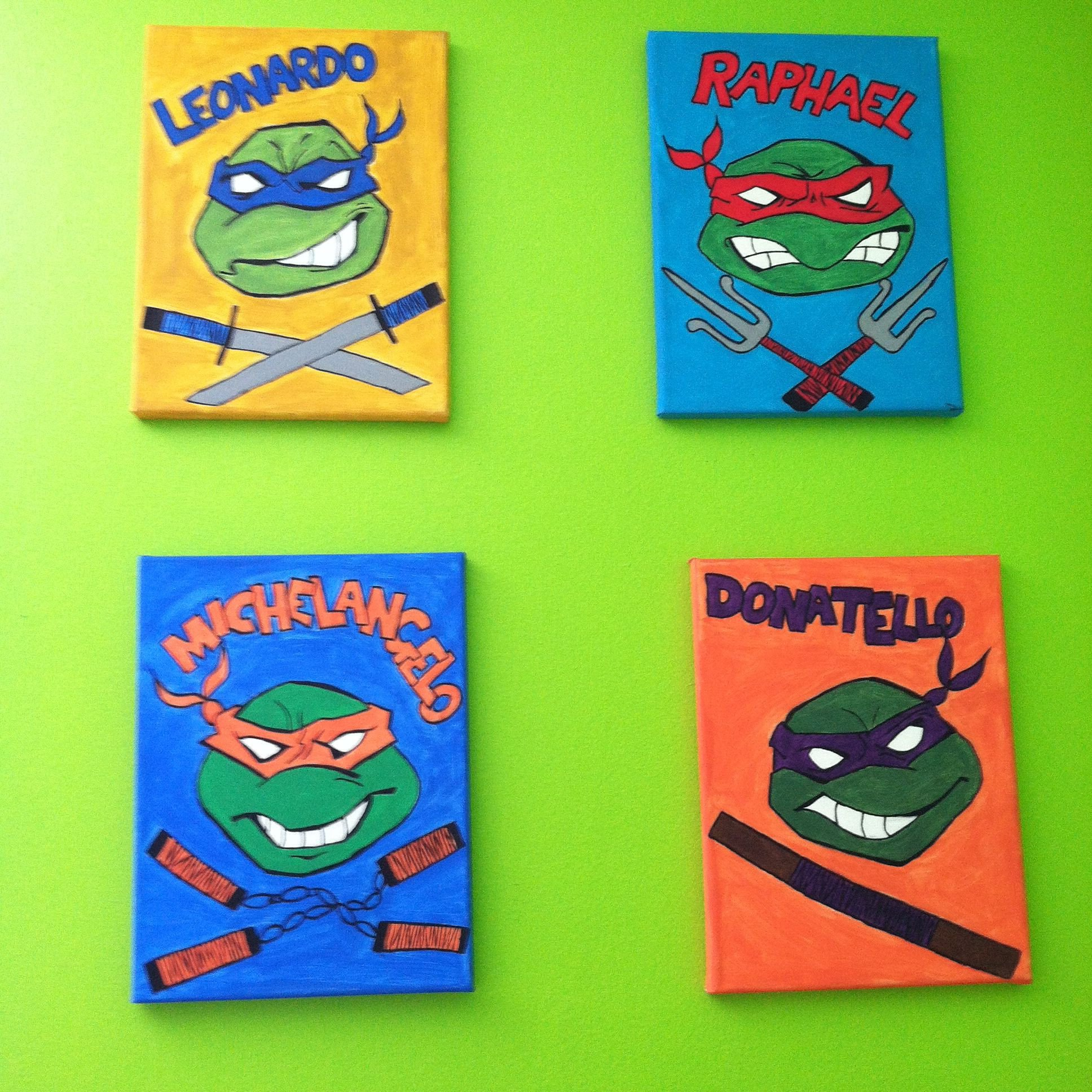 Ninja Turtle Bedroom Set Awesome Teenage Mutant Ninja Turtles Wall Art Tmnt