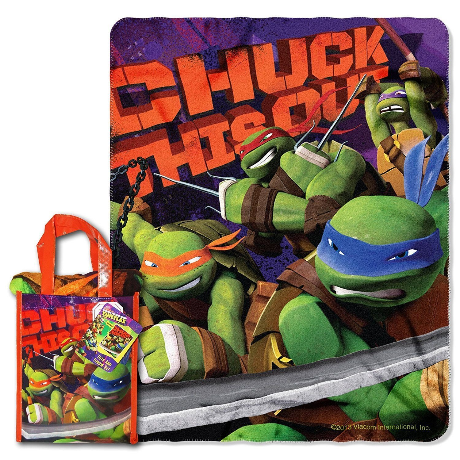 "Ninja Turtle Bedroom Set Beautiful Nickelodeon Tmnt ""ninja Chuck"" 40 Inch by 50 Inch Micro"