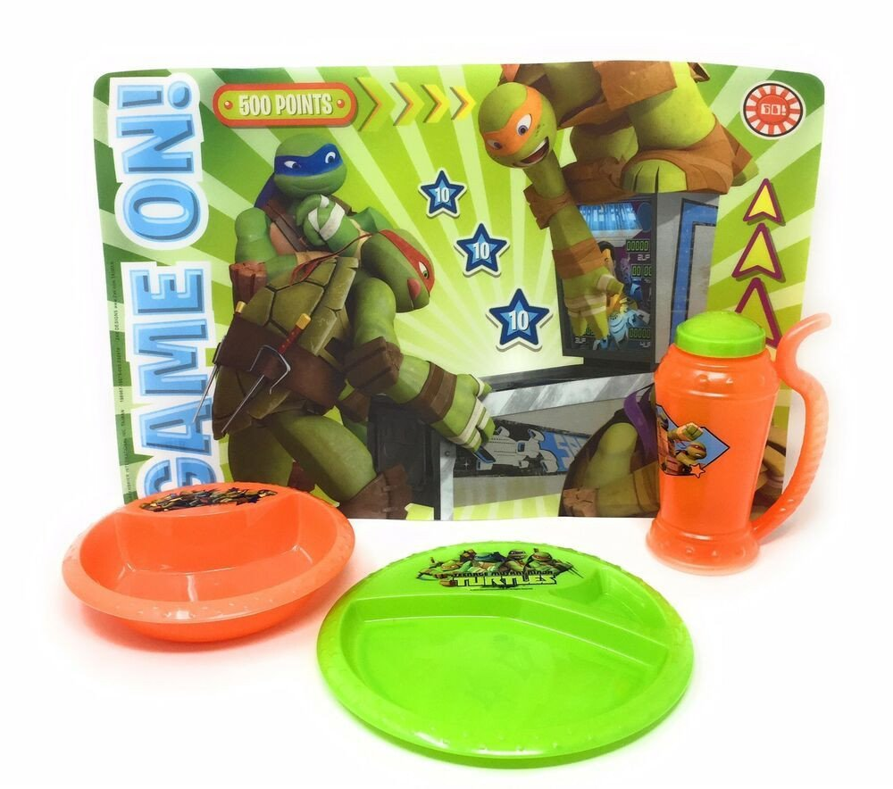 Ninja Turtle Bedroom Set Fresh Teenage Mutant Ninja Turtles Plastic Plate Bowl Cup with