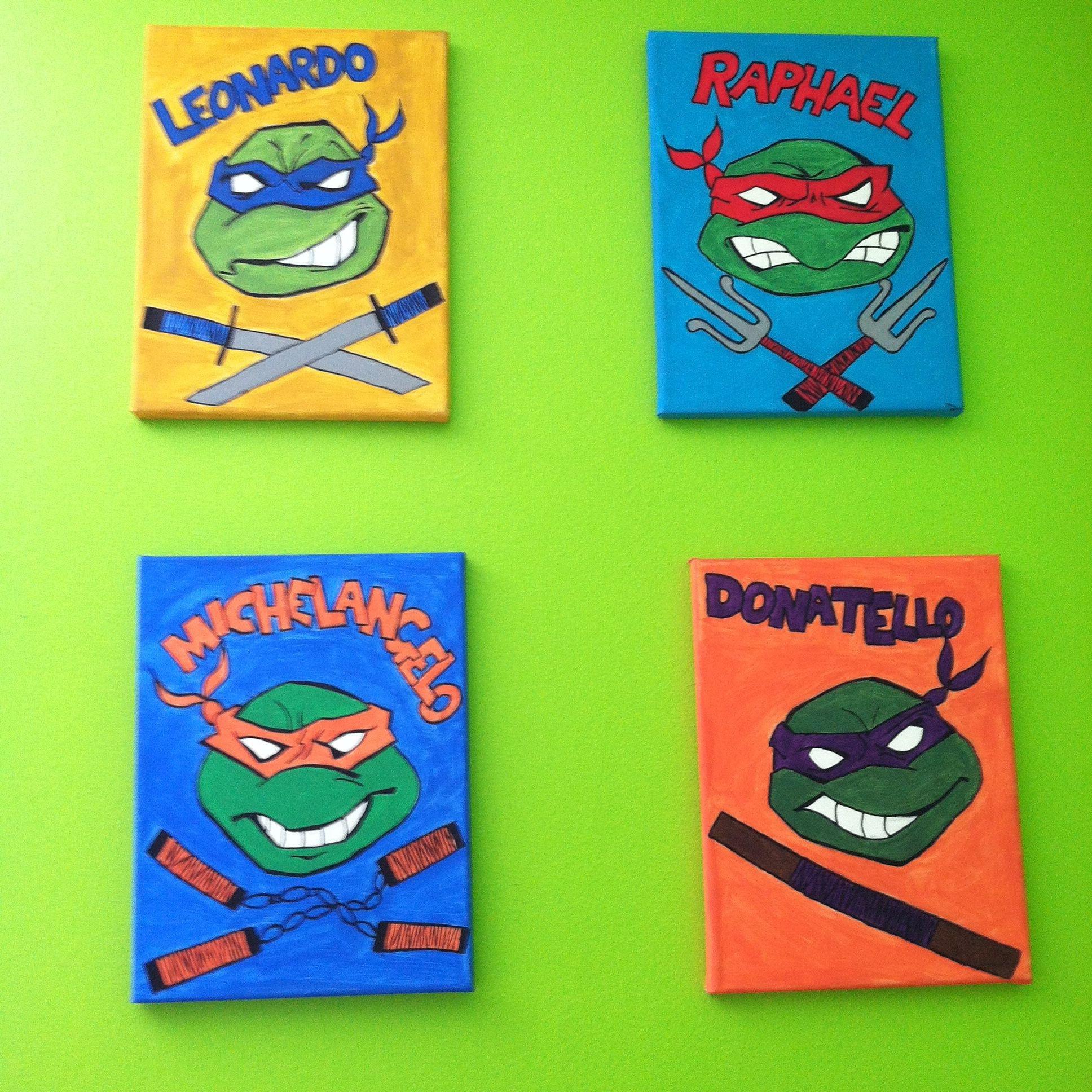 Ninja Turtles Bedroom Ideas Awesome Teenage Mutant Ninja Turtles Wall Art Tmnt