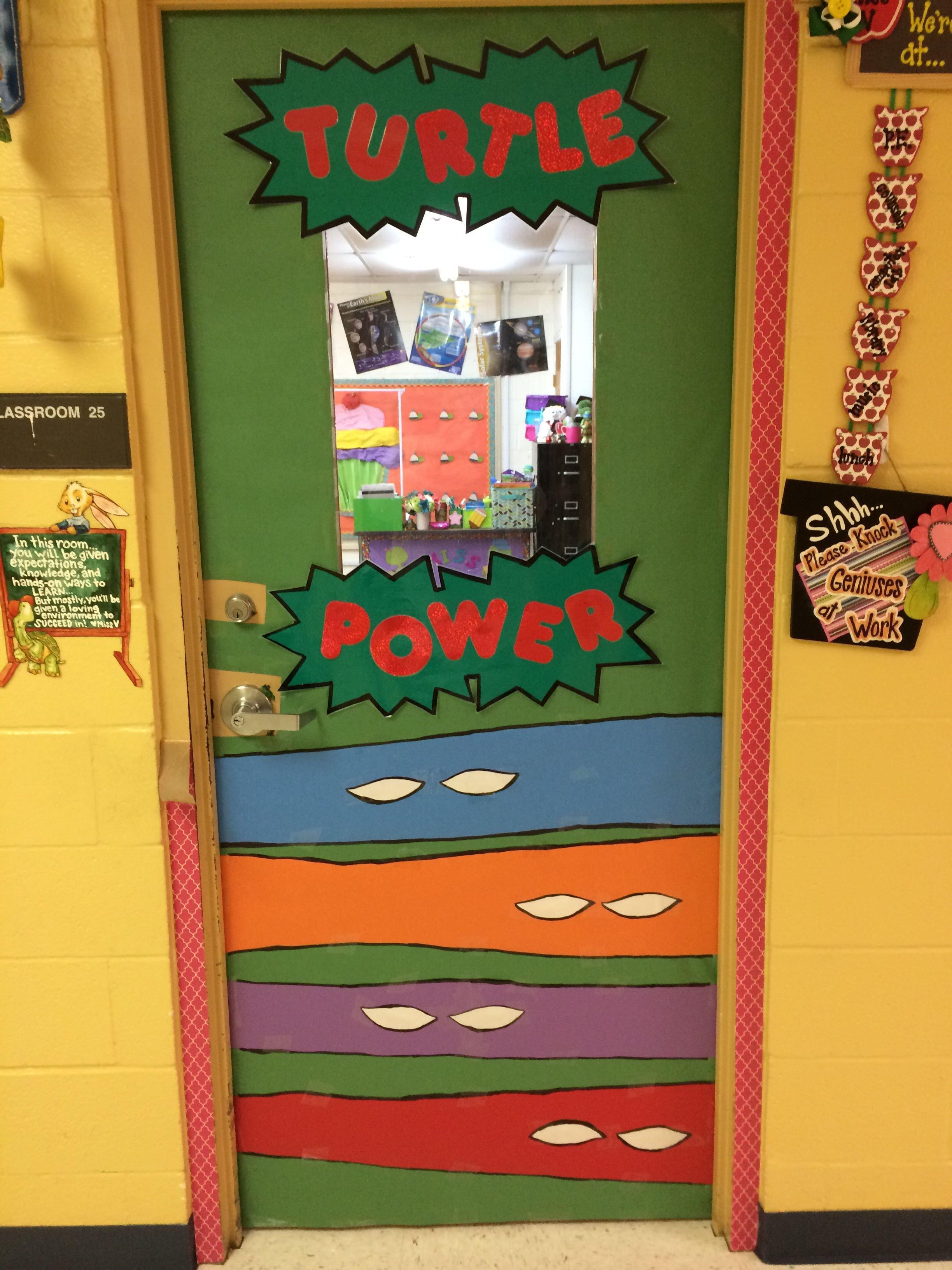 Ninja Turtles Bedroom Ideas Best Of Ninja Turtle Turtle Power Door for My Classroom