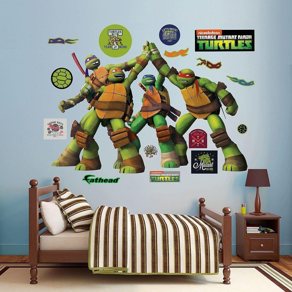 Ninja Turtles Bedroom Ideas New Teenage Mutant Ninja Turtles High Five Wall Decals by
