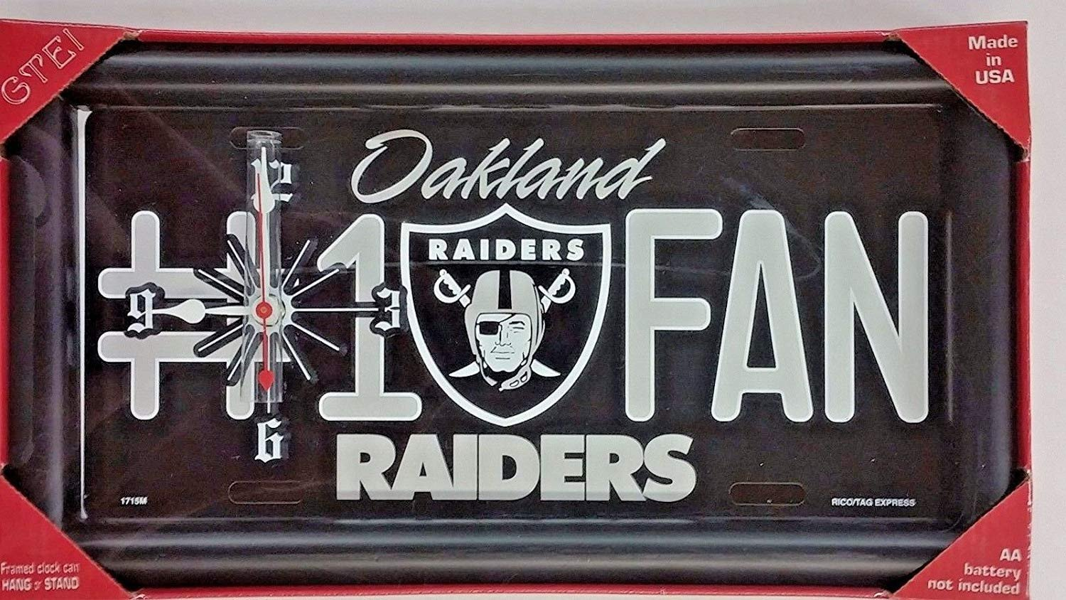 Oakland Raiders Bedroom Set Awesome Oakland Raiders 1 Fan License Plate Clock