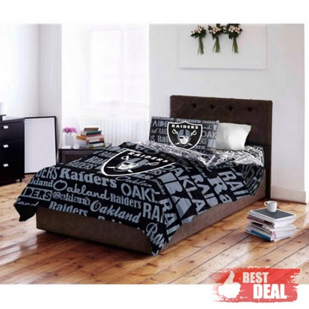Oakland Raiders Bedroom Set Inspirational Nfl Oakland Raiders Full Bedding Set forter Sheet