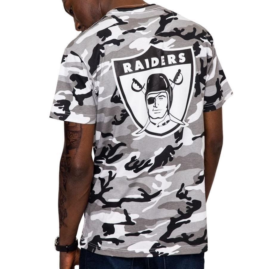 Oakland Raiders Bedroom Set Lovely Mitchell & Ness Camo Tee Oakland Raiders Grey