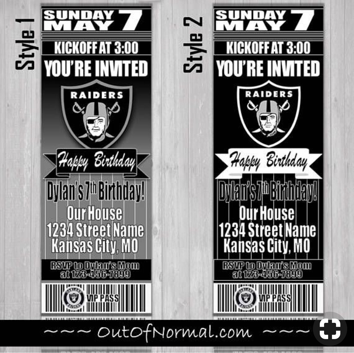 Oakland Raiders Bedroom Set New Greeting Cards & Party Supply Oakland Raiders Ticket Style
