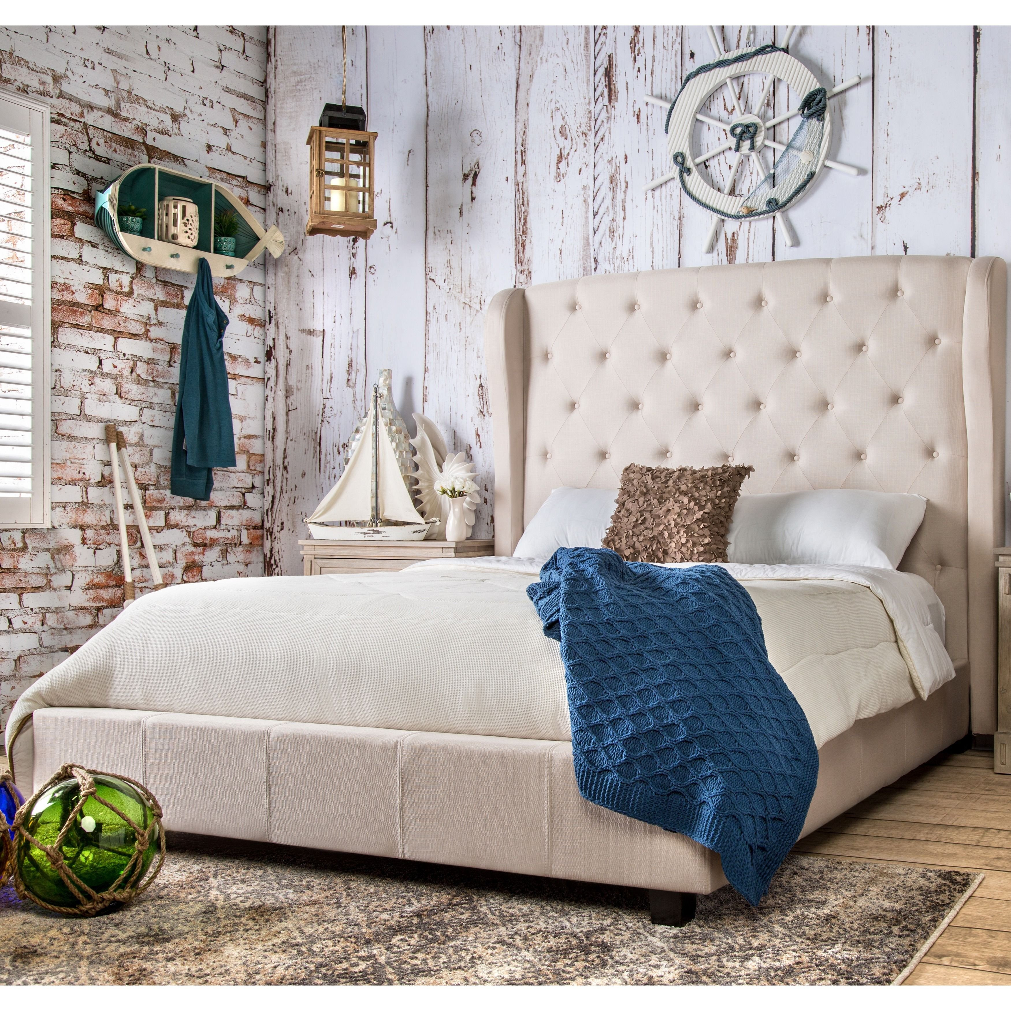 Off White Bedroom Furniture Best Of Gracewood Hollow Gaiman button Tufted Padded Flax Wingback
