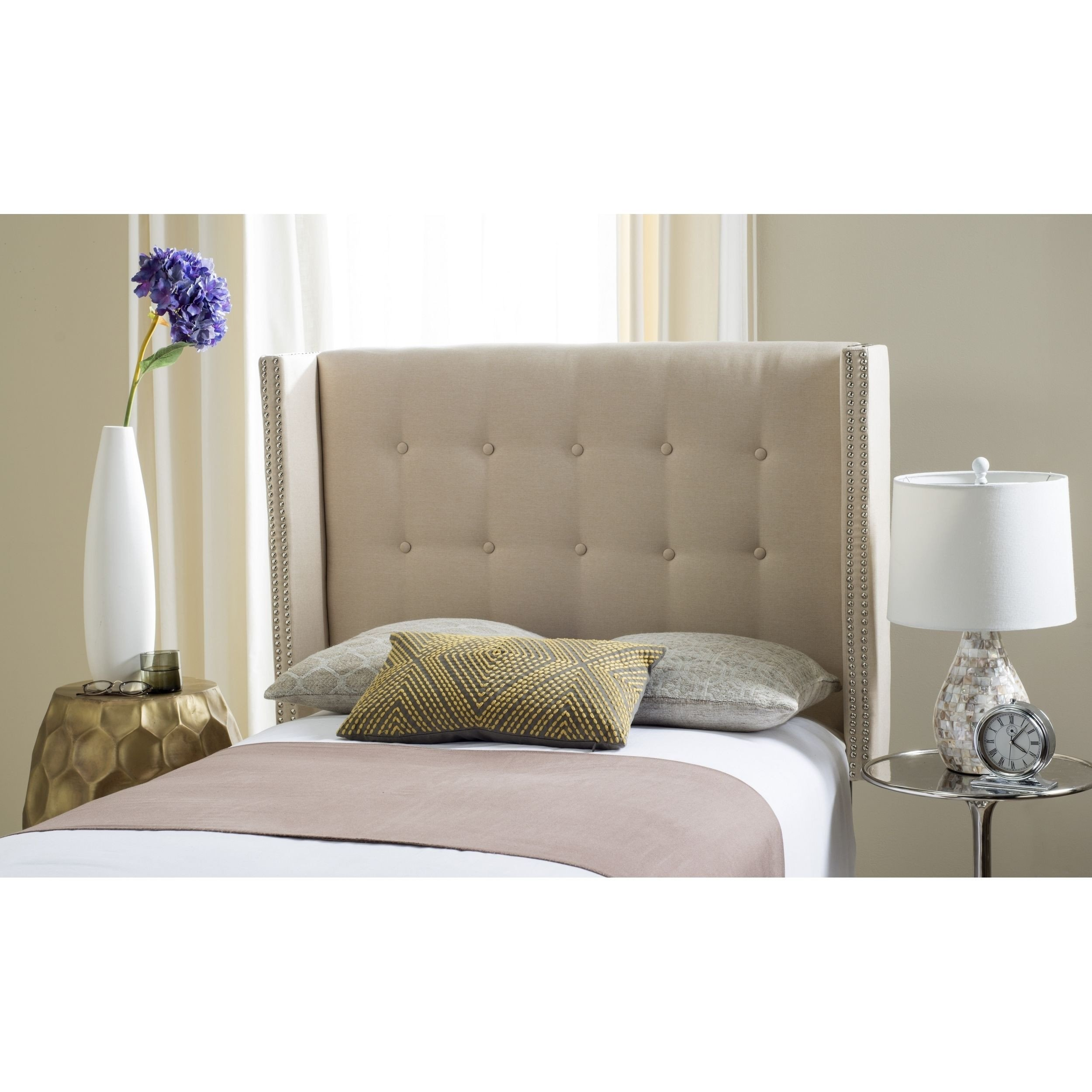 Off White Bedroom Furniture Luxury Safavieh Keegan Parchment Linen Upholstered Wingback