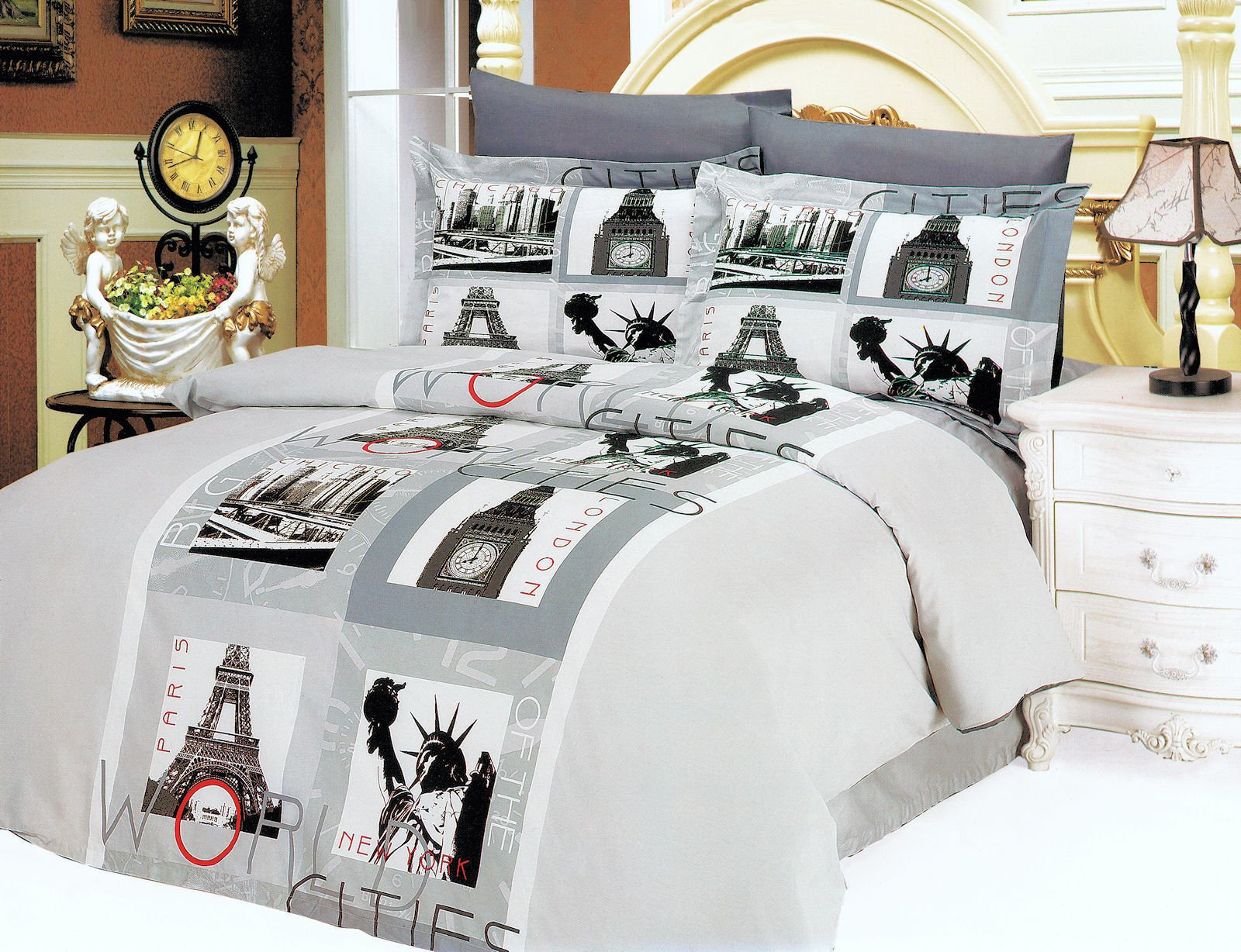 Paris themed Bedroom Set Awesome 77 Most Brilliant Girls Duvet Covers Bedding Yellow Cover