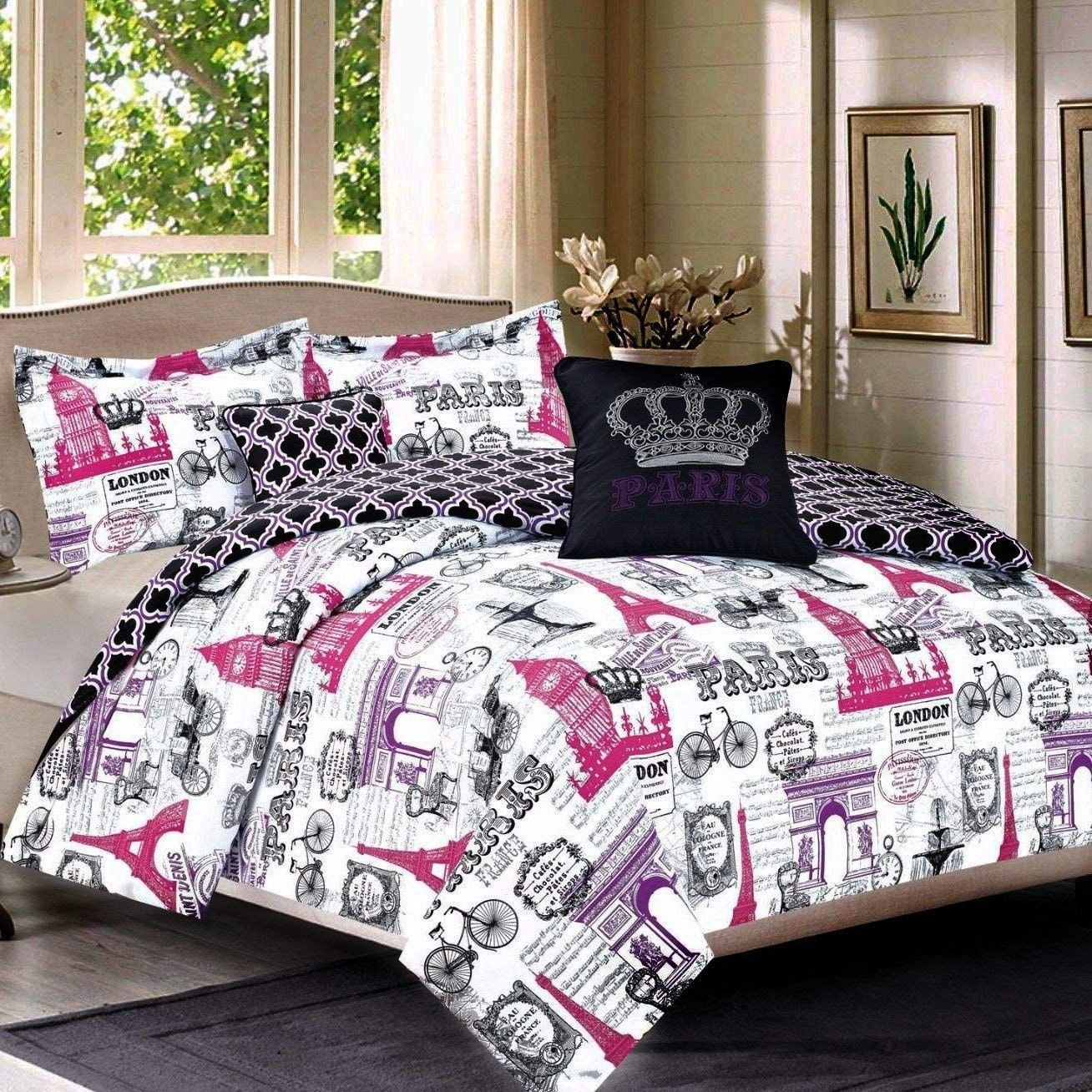 Paris themed Bedroom Set New Teen Girls Pink Dusty Pink Rose Bedding Sets – Ease Bedding