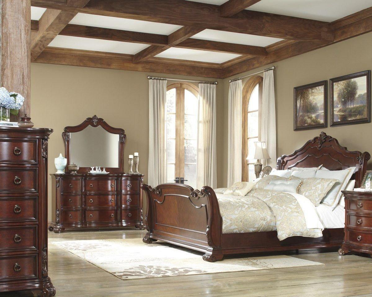 Paul Bunyan Bedroom Set Elegant ashley Furniture B698 Martanny King Size Bedroom Set – High