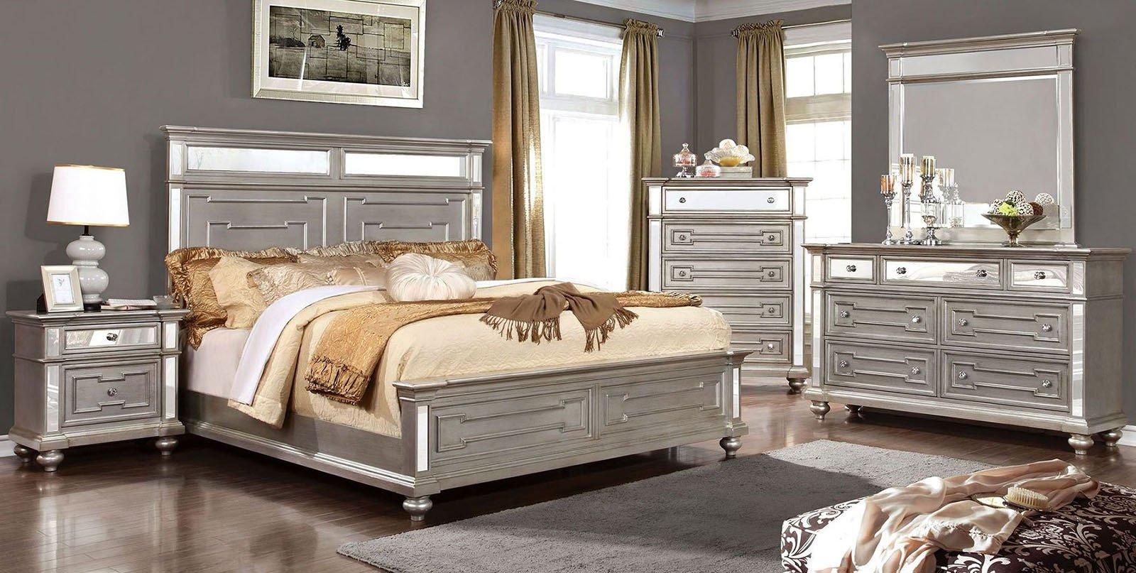 Paula Deen Steel Magnolia Bedroom Set Lovely Furniture Of America Salamanca 4pc Panel Bedroom Set In Champagne