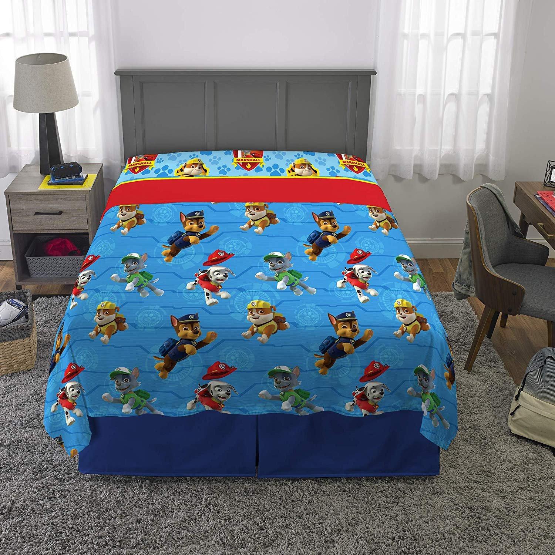 Paw Patrol Bedroom Decor Beautiful Paw Patrol Ruff Ruff Rescue Sheet Set Full Amazon Home
