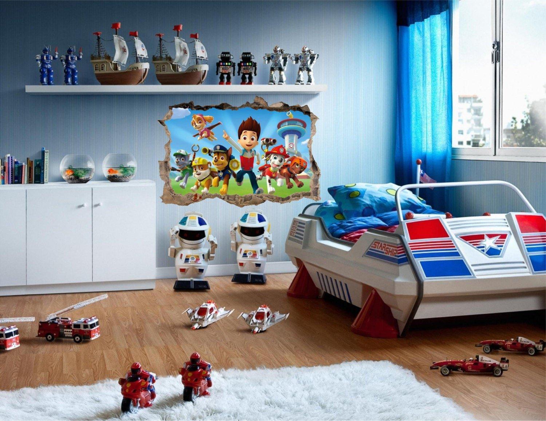 Paw Patrol Bedroom Decor Fresh Paw Patrol Smashed Super Mario Ninja 3d Wall Decal Removable Vinyl
