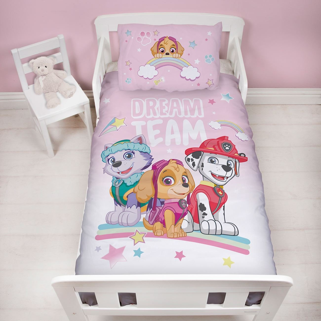 Paw Patrol Bedroom Furniture Awesome Details About Paw Patrol Junior toddler Duvet Cover Set Pastels