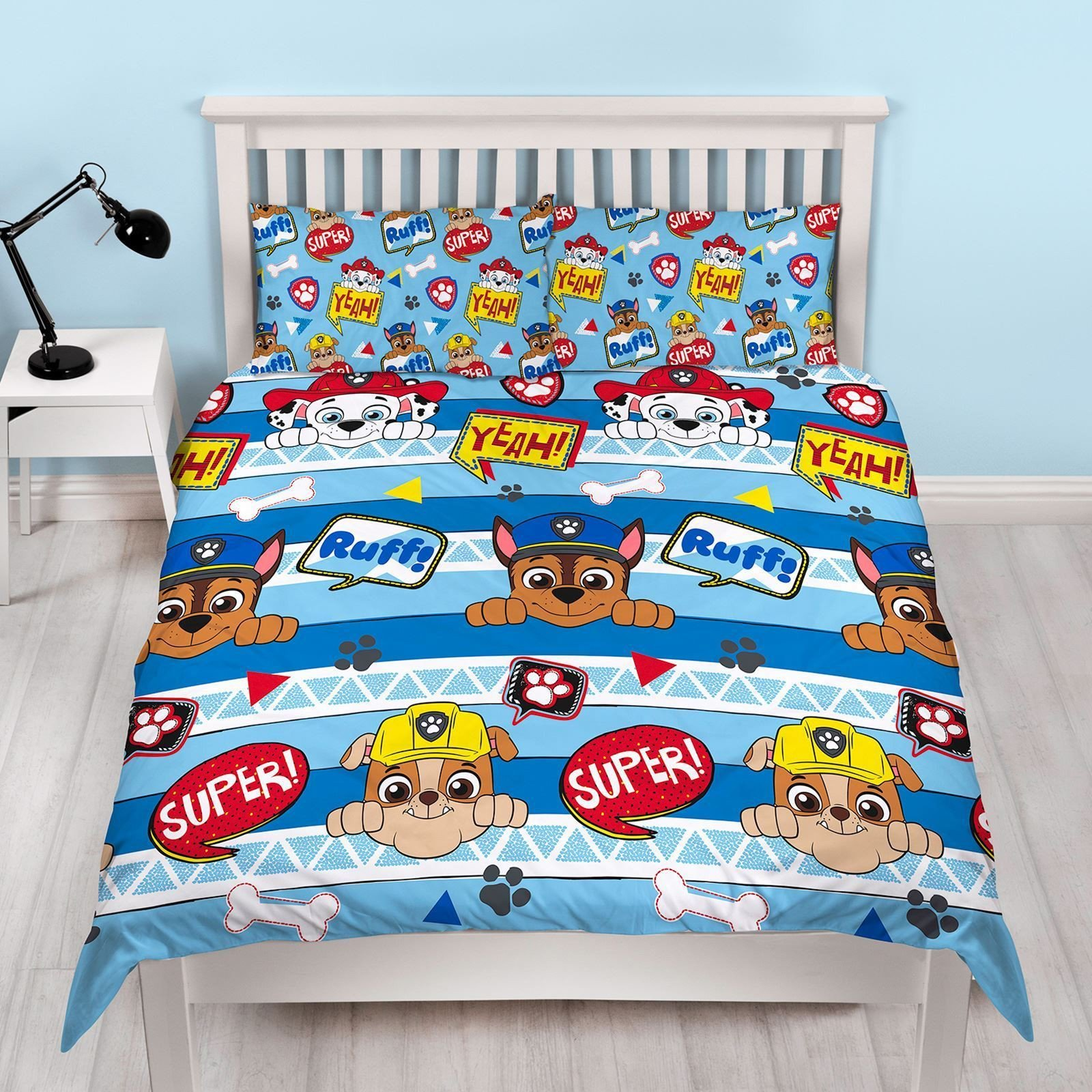 Paw Patrol Bedroom Furniture Fresh Details About New Paw Patrol Double Duvet Quilt Cover Bedding Set Boys Kids Blue Bed Bedroom