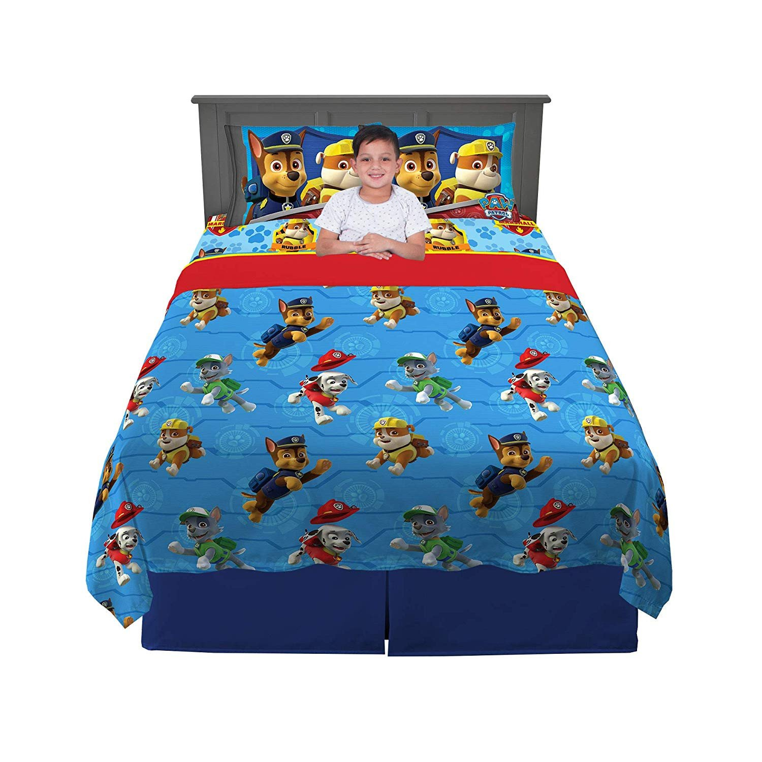 Paw Patrol Bedroom Set Awesome Paw Patrol Ruff Ruff Rescue Sheet Set Full Amazon Home