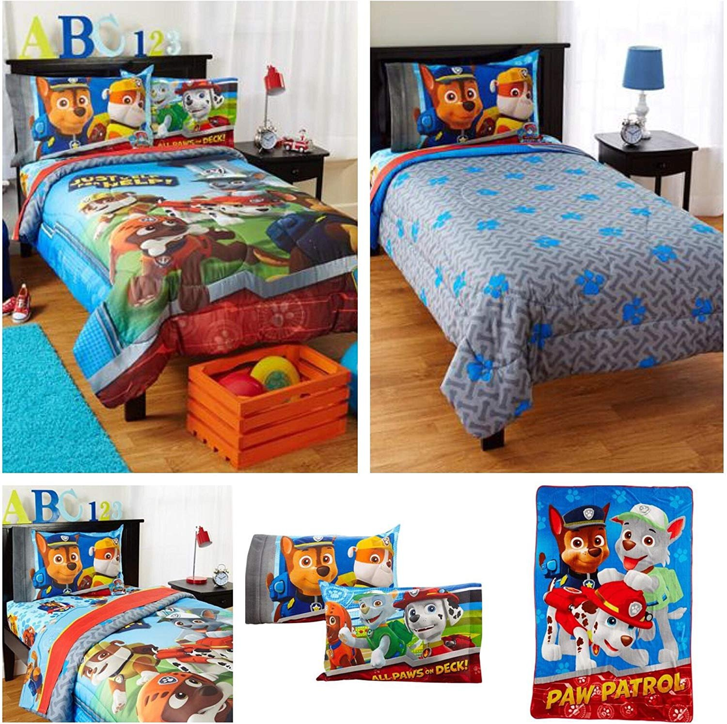 Paw Patrol Bedroom Set Luxury Amazon Nickelodeon Paw Patrol Kids Bed In A Bag Bedding