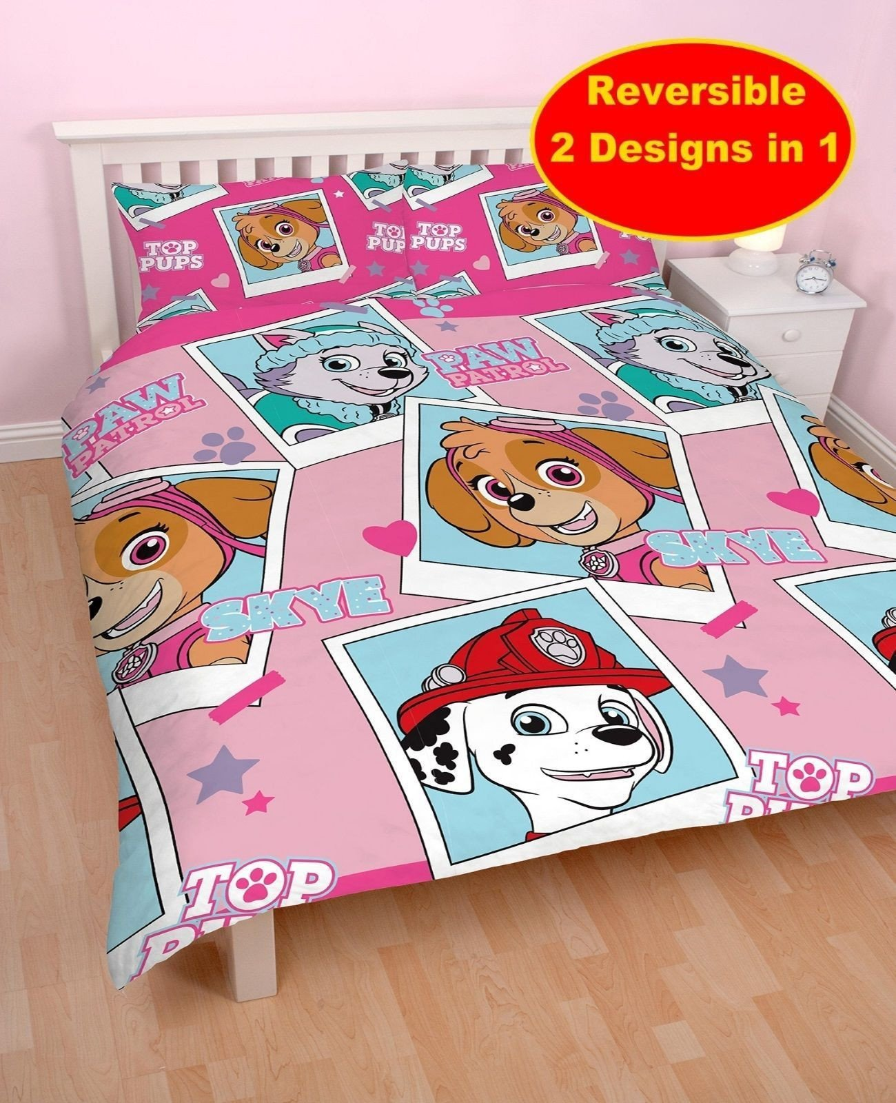 Paw Patrol Bedroom Set Luxury Details About New Paw Patrol Stars Pink Double Duvet Quilt