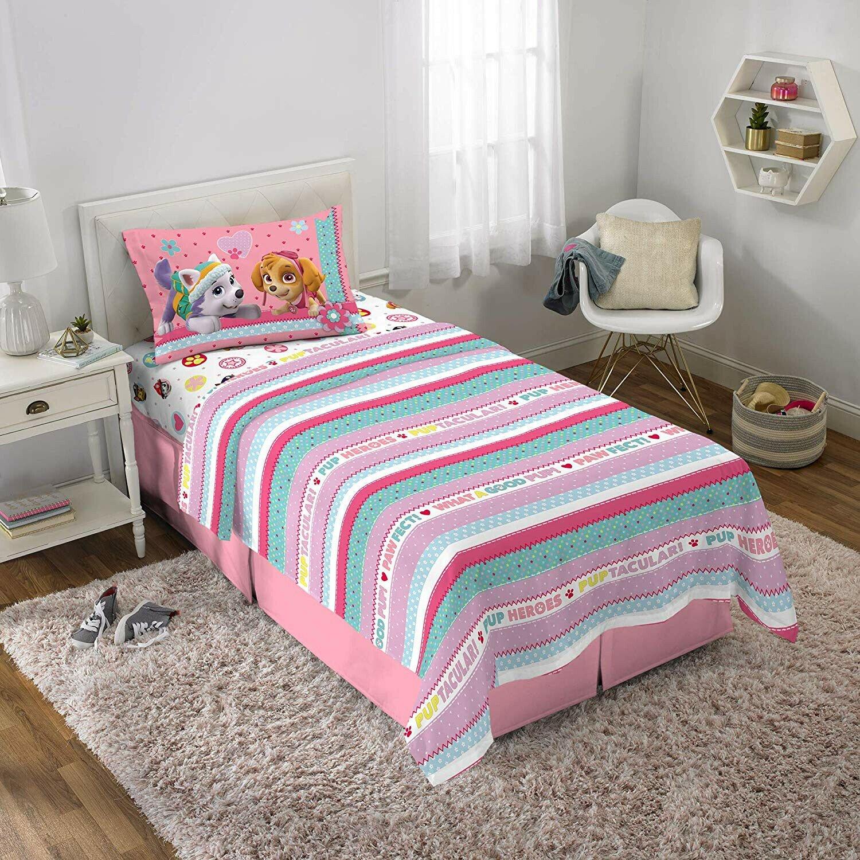 Paw Patrol Bedroom Set Luxury Juego De Cama Pink Twin Infantil Paw Patrol De 3 Piezas Sabanas Funda D Almohada