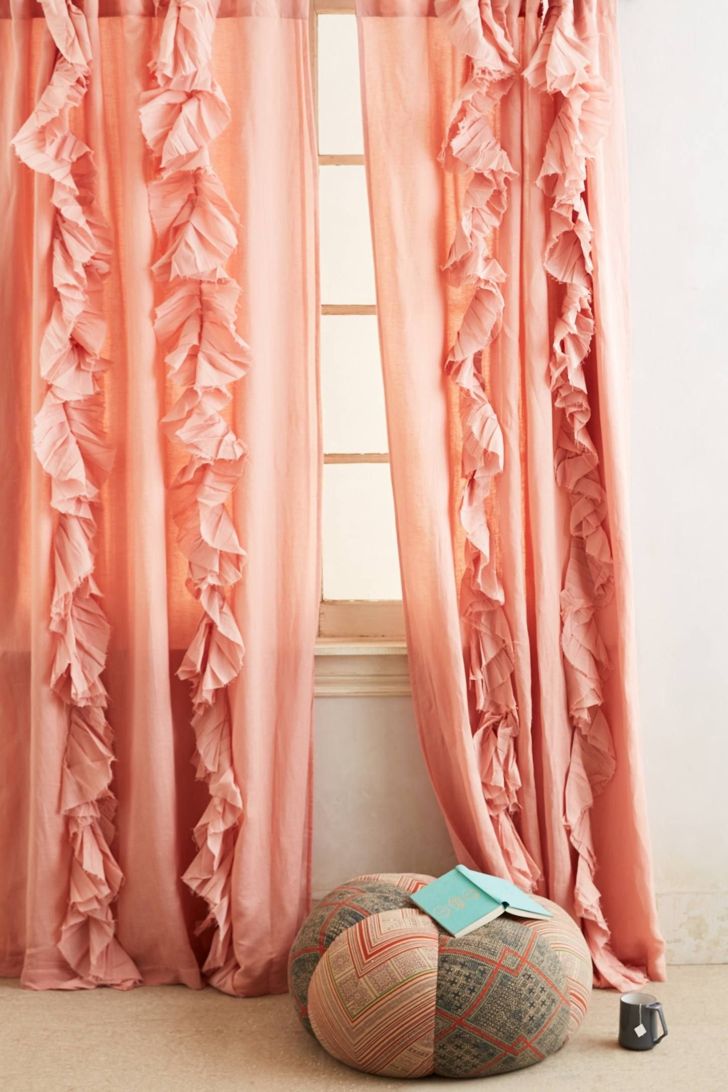 Peach Curtains for Bedroom Beautiful Smithery Curtain Rod