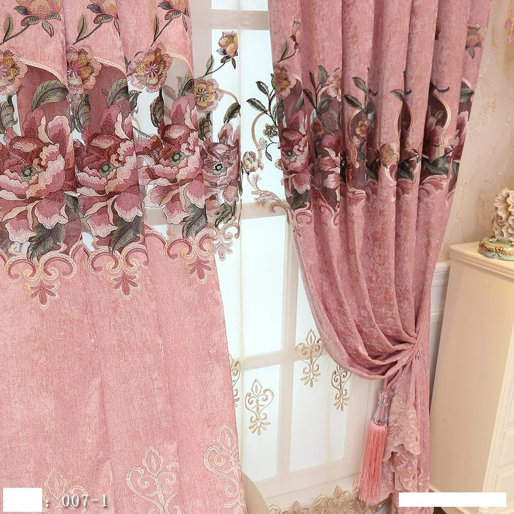 Peach Curtains for Bedroom Best Of 2019 Modern Simple Garden Wind Embroidered Half Blackout Curtain European Jacquard Living Room Bedroom Finished Curtains From Hezekiah $30 16
